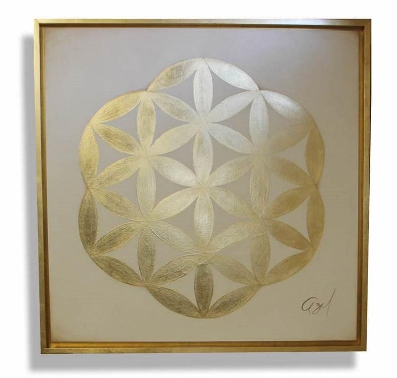 Cuadro Decorativo Mandala Oro - Këssa Muebles