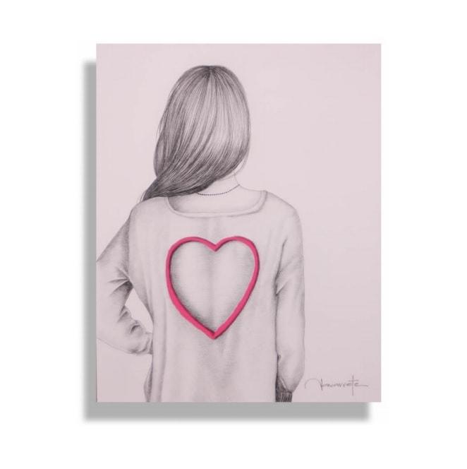 Cuadro Decorativo Enamorada - Këssa Muebles
