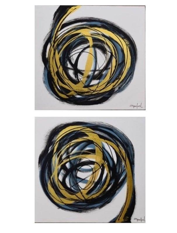 Cuadro Decorativo Diptico Espiral - Këssa Muebles
