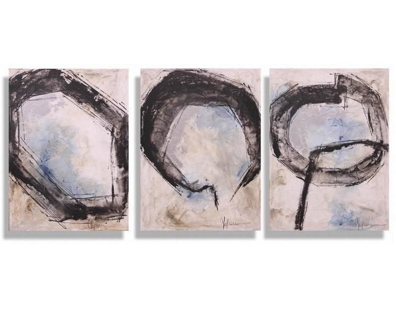 Cuadro Decorativo Triptico Anillos - Këssa Muebles