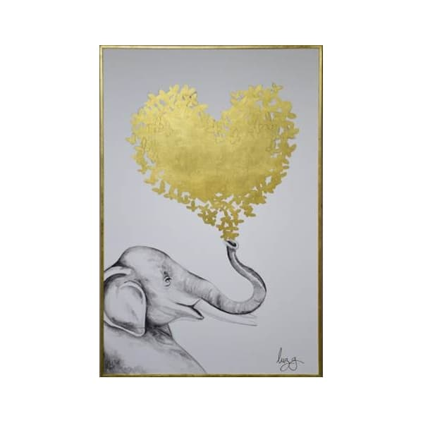Cuadro Decorativo Corazon Elefante - Këssa Muebles
