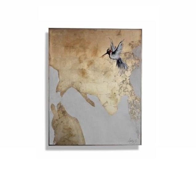 Cuadro Decorativo Dando Un Respiro (Colibrí) - Këssa Muebles