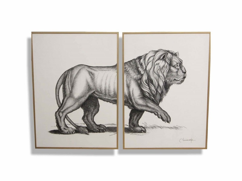 Cuadro Decorativo Leon - Këssa Muebles