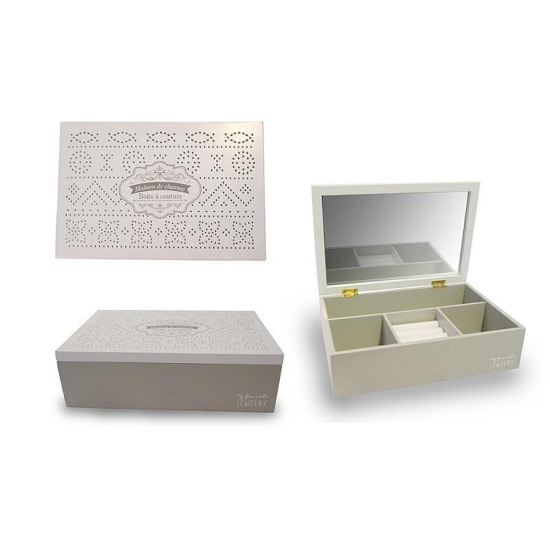 Caja Madera Decorativa Con Espejo - Këssa Muebles