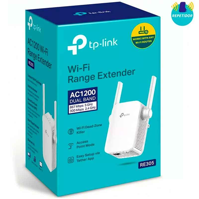 Extensor de Rango TP-LINK RE305 AC1200 Dual Band 802.11ac 1200Mbps