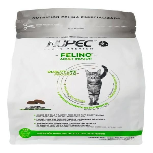 Nupec Indoor Cat Adulto 1.5 kg