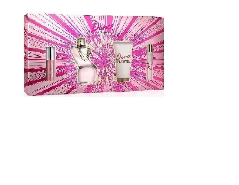 Estuche para Dama Shakira Dance Edt 80 Ml + Body Lotion 75 Ml + Travel Spray 10 Ml + Lipgloss