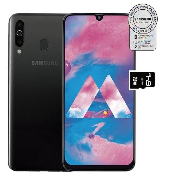 Celular Samsung Galaxy M30 64GB RAM 4GB 3 Camaras Gran Bateria NEGRO + Regalo Micro SD 64GB