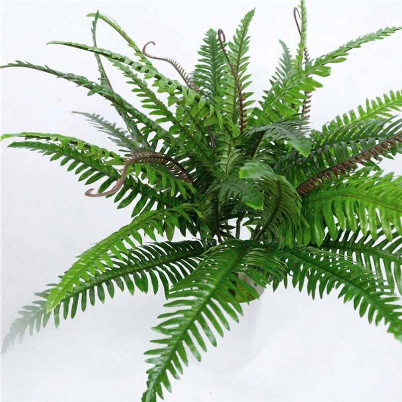 Planta Palma Bush Obscuro Artificial Para Decorar 55 cm de largo