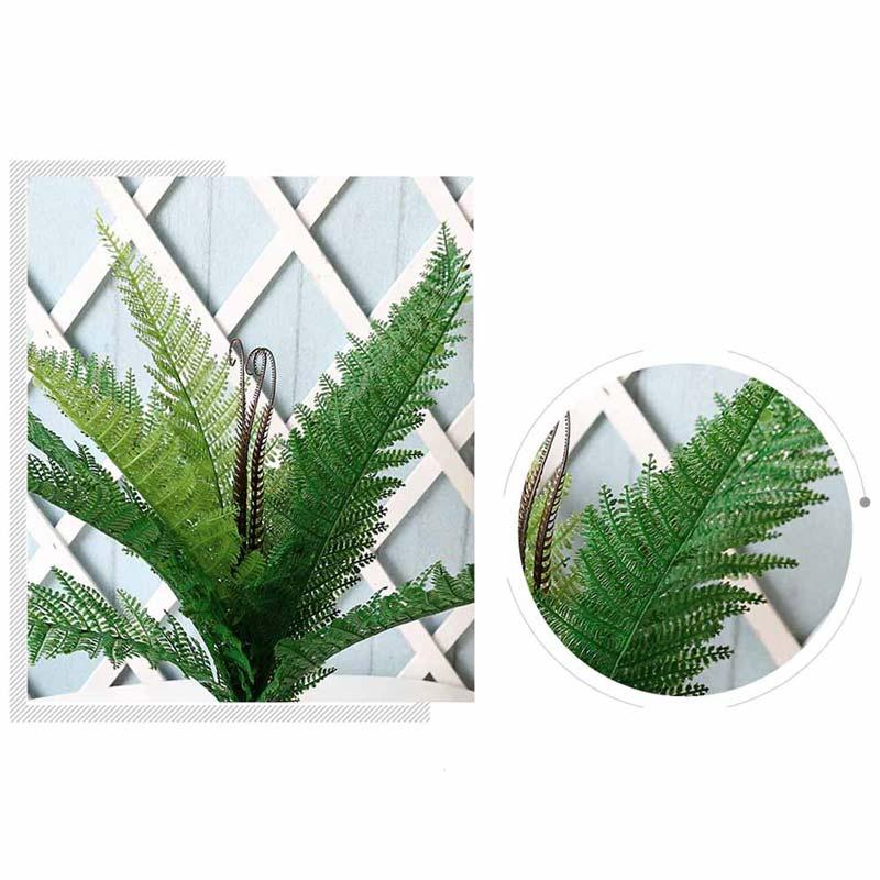 Planta Palma Bush Bicolor Artificial Para Decoracion 55cm de largo