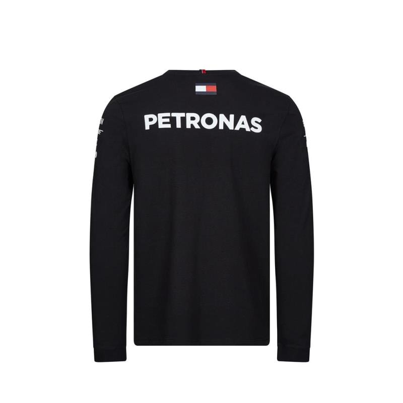 T Shirt oficial manga larga para hombre Mercedes AMG Petronas NUEVOS