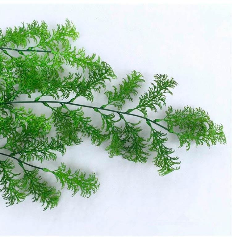Planta Cipres Rama Pino Verde Claro Artificial Para Decorar 30 cm de largo