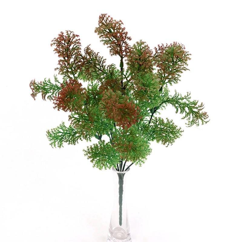 Planta Cipres Rama Pino Rojo Claro Artificial Para Decorar 78 cm de largo