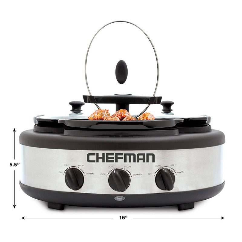 Buffetera / Triple Slow Cooker Chefman