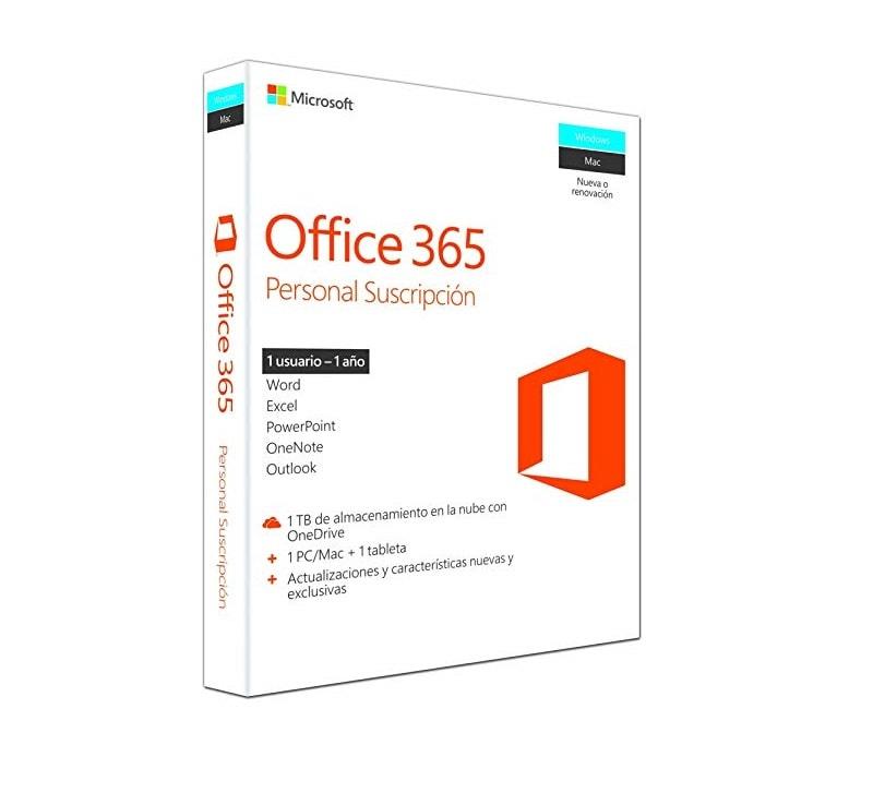 SOFTWARE MICROSOFT OFFICE 365 PERSONAL 1 U 3 D (QQ2-00484/QQ2-00887)