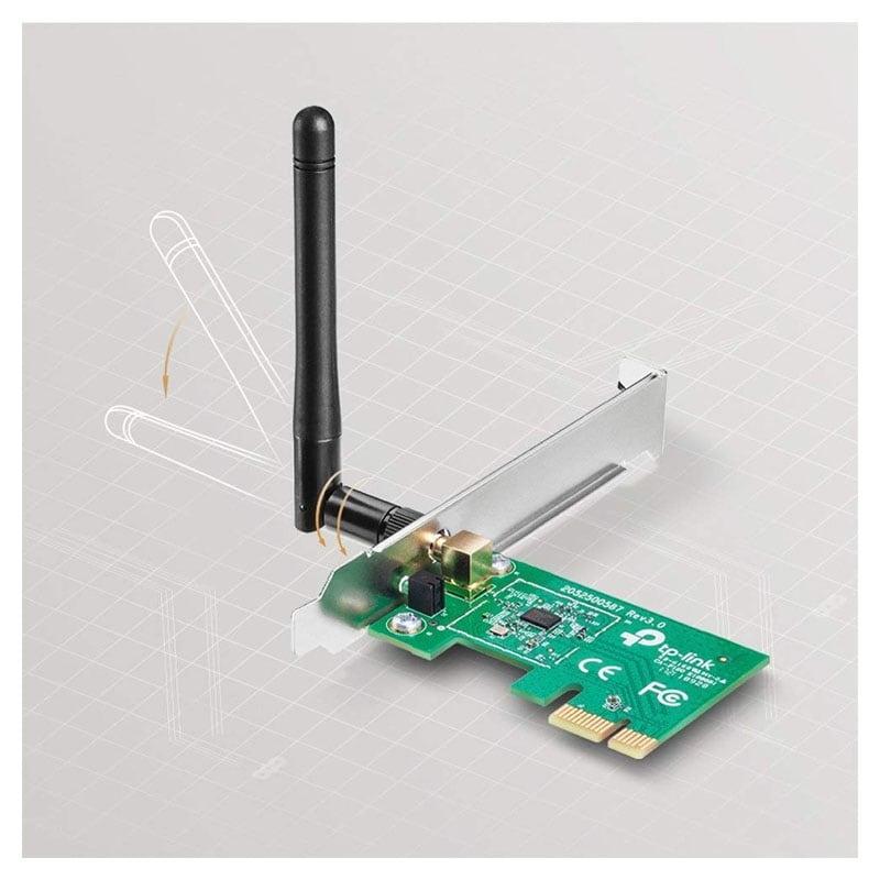 ADAPTADOR TPLINK TLWN781ND PCI EXPRESS 150MPBS 2.4GHZ 2DBI