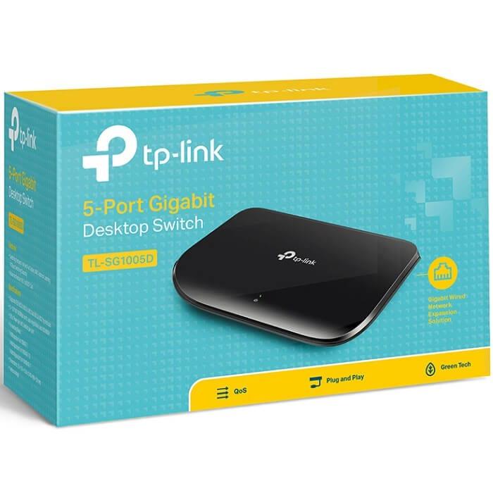 Switch 5 Puertos Tp-Link Gigabit 10/100/1000 Mbps TL-SG1005D
