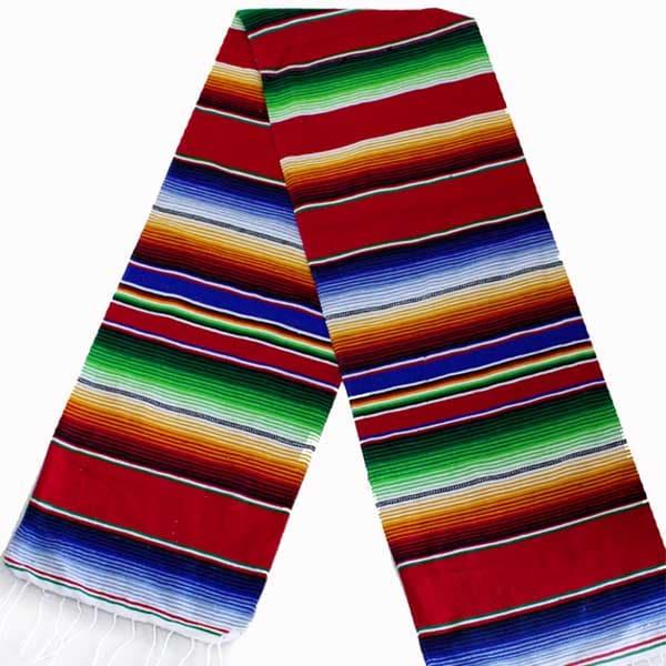 Sarape artesanal Mexicano colores vivos.