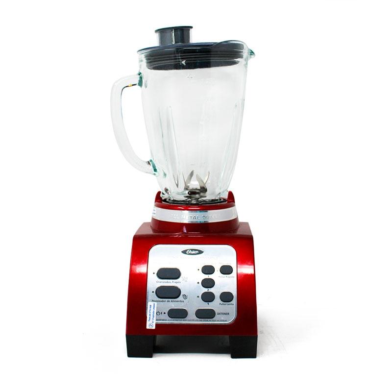 Licuadora Reversible 3 Velocidades Vaso de Vidrio Roja Oster BRLY07-R00-013