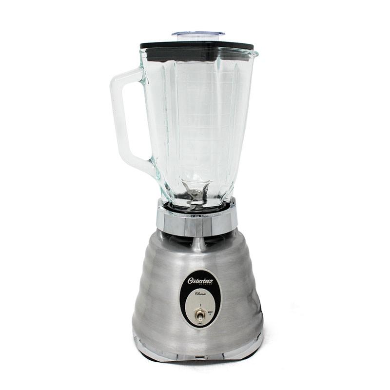Licuadora 1 Velocidad y Pulso Vaso de Vidrio Cromo Cepillado Oster 4127-13