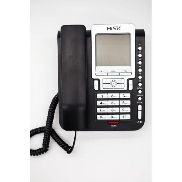 Teléfono Alambrico MISIK MT888 Negro Identificador de Llamadas Pantalla LCD