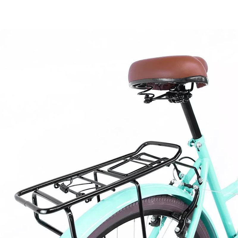 Bicicleta Vintage 6 Velocidades Freno de Mano Rodada 26 Canastilla Bici Urbana Retro Menta