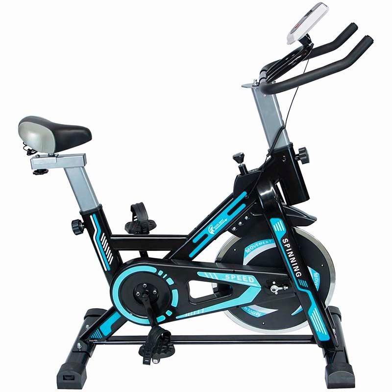 Bicicleta Spinning 8 kg Bici Fija Odometro Asiento Ajustable Hogar Centurfit
