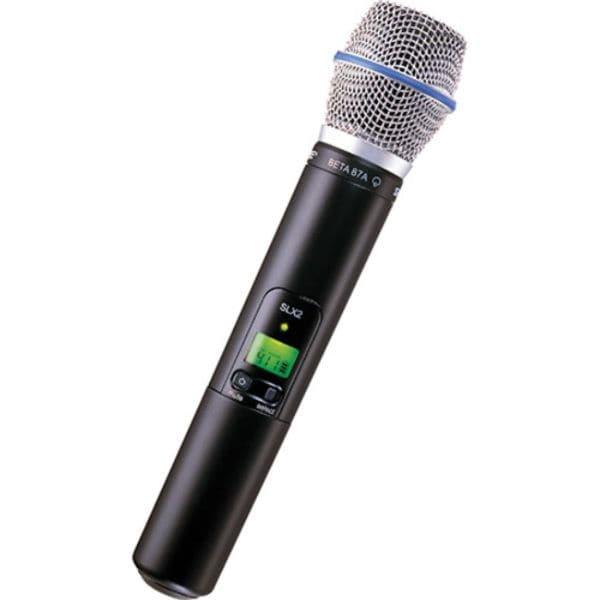 Microfono Inalambrico SHURE SLX2/BETA87A Transmisor de mano y Capsula