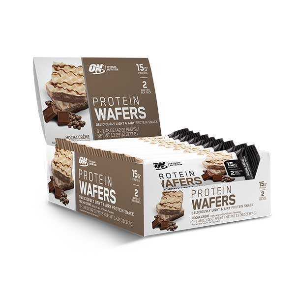 Wafers de proteína Sabor Moka (9 Packs)