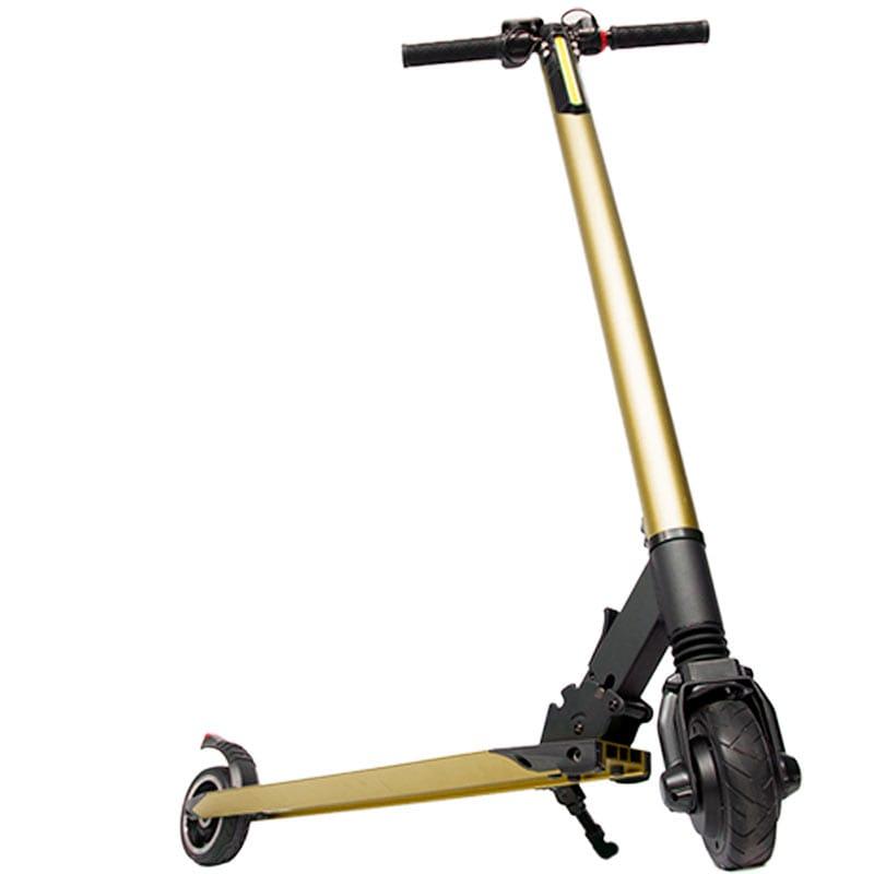 Scooter Electrico Dorado Patin Plegable Amortiguador 23 km Centurfit