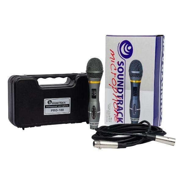 Micrófono SOUNDTRACK PRO-100 Gris Dinámico Profesional