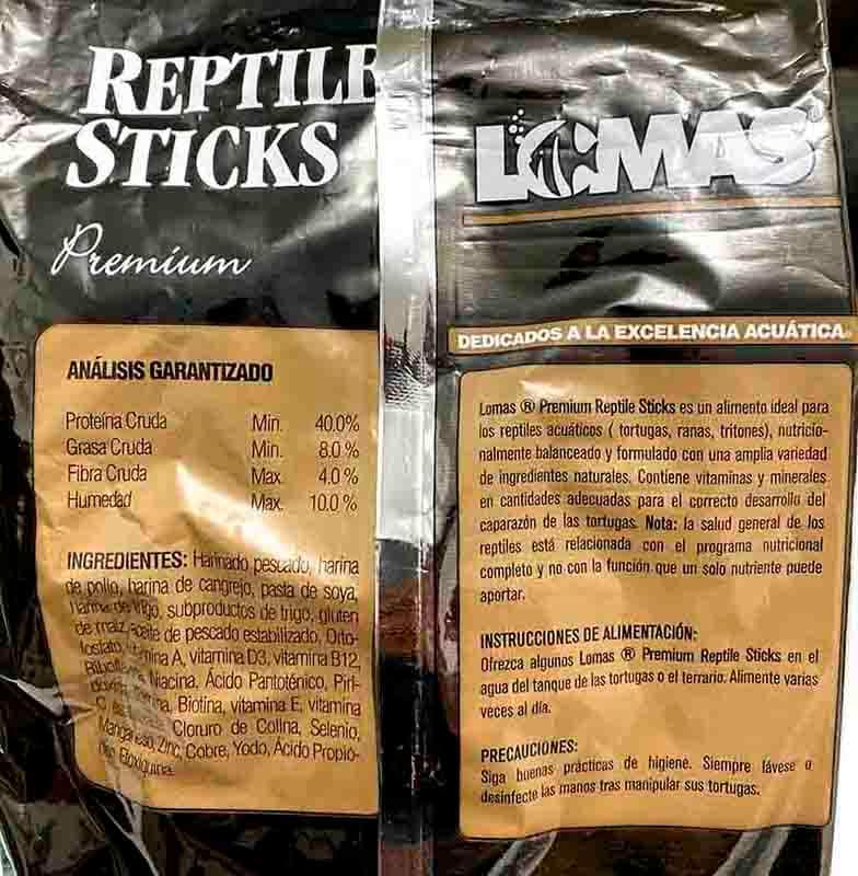 Alimento Para Tortuga De Agua Reptil Stick 1,500 Kg Churrito Lomas Antes Wardley