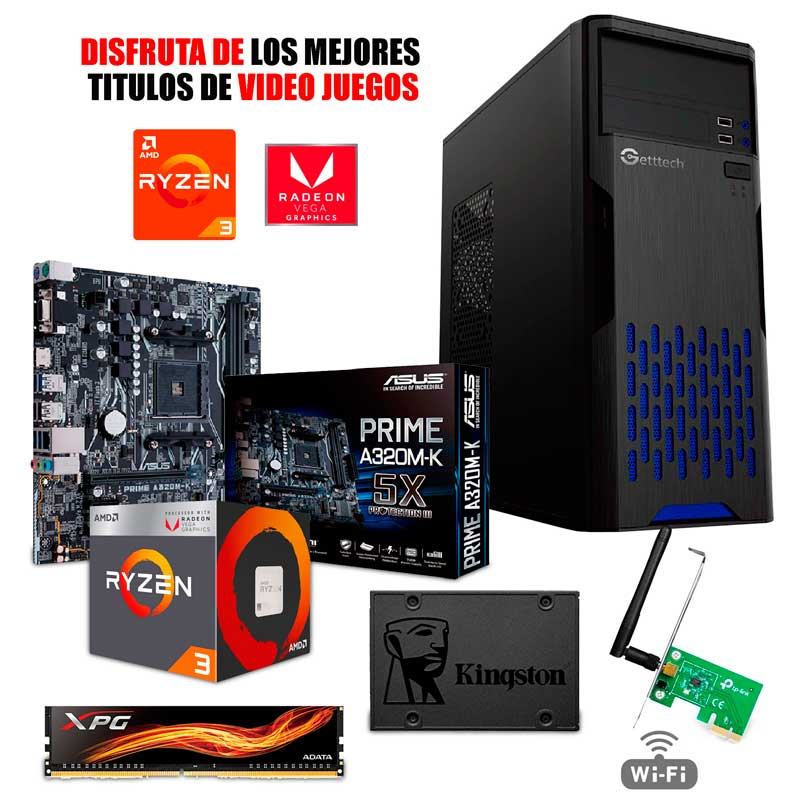 Pc Gamer Xtreme Amd Ryzen 3 2200g 8gb 240gb Vega 8 Fornite