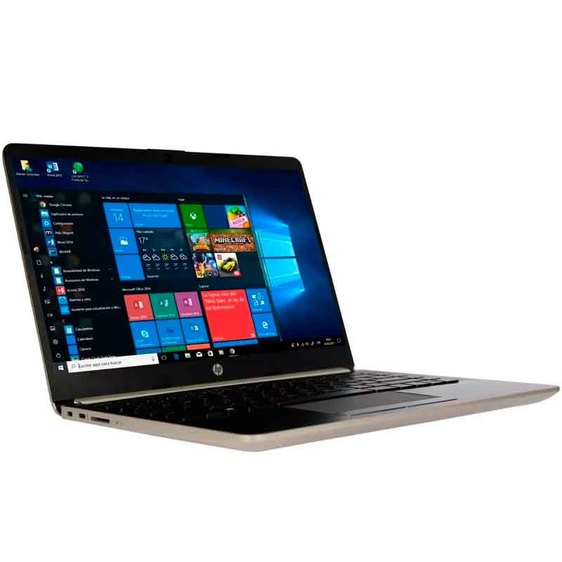 Laptop HP 14-DK0011DS A4 9125 4GB 64GB 14 Win10 Dorado 6GH08UA (Reacondicionado)