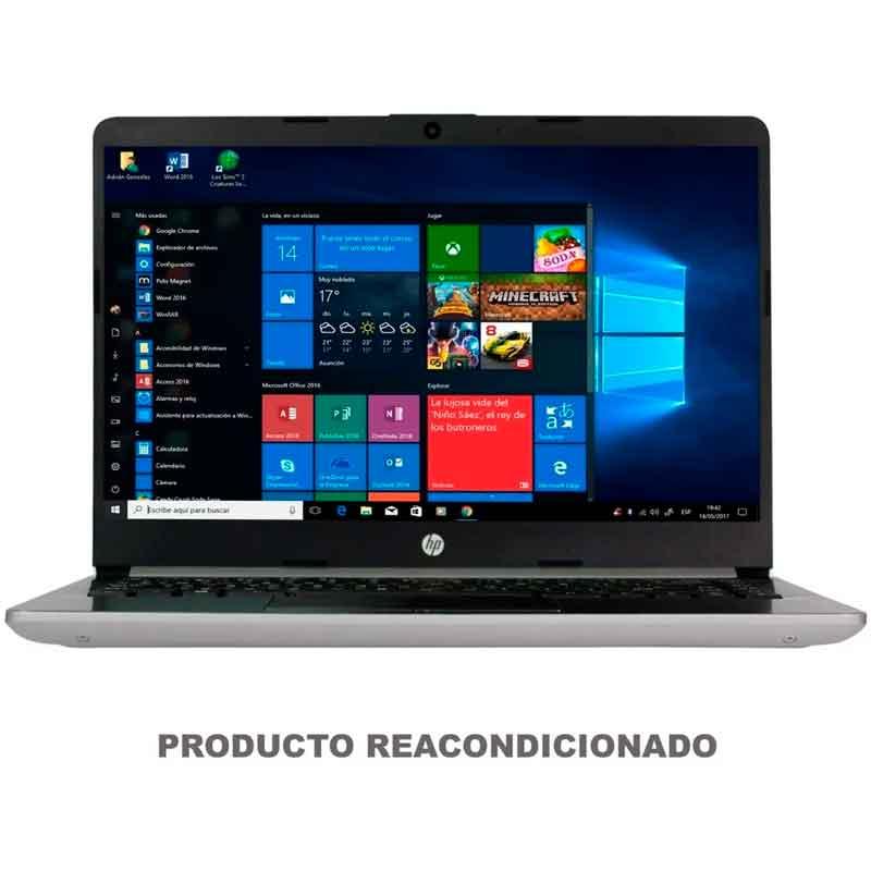 Laptop HP 14DK0010DS A4 9125 4GB SSD 64GB 14 Windows 10 Plata 6GH30UA