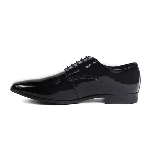 Capa de Ozono  zapato para Hombre de Vestir, charol, negro 020C63