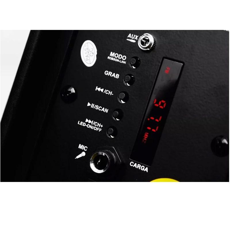 Bafle Recargable Con Tecnología True Wireless 8 Pulg Led Rgb ROBSON
