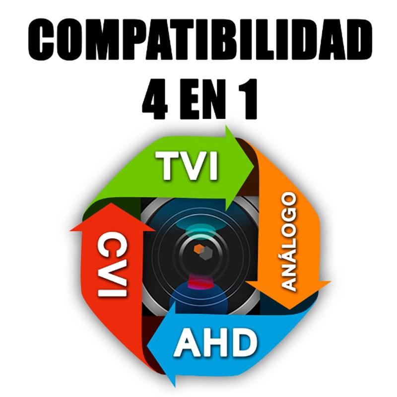 Par Balun Transceptor CCTV Video HD 4K 8 megapixeles 4 en 1