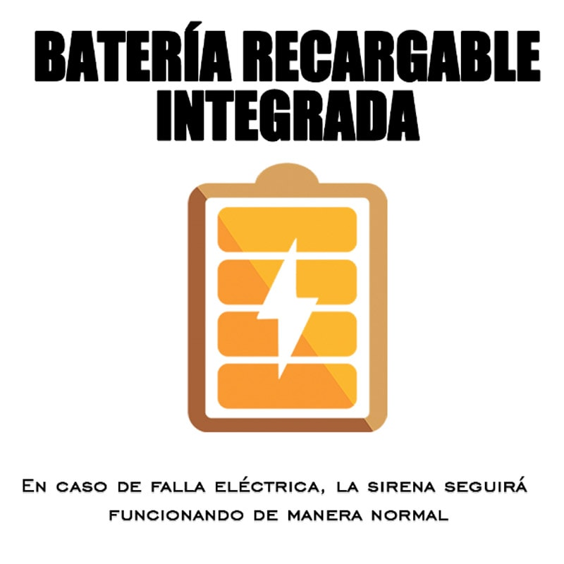 Sirena Exterior Inalambrica/Alambrica Estrobo Alarma Bateria