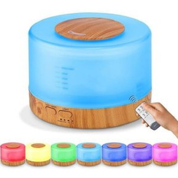 Difusor Aromas Aromaterapia Humidificador  Aroma Gratis Color Multicolor