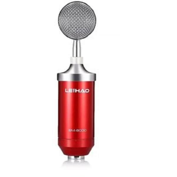 Microfono Condensador Profesional Bm8000 Color Rojo