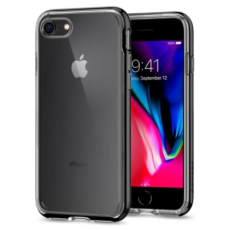 Funda Negro Neo Hybrid Crystal 2 iPhone 8 Spigen