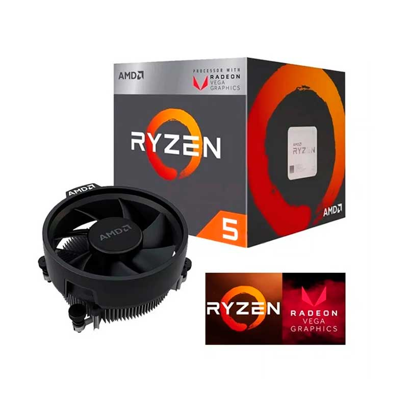 Pc Gamer Xtreme Amd Ryzen 5 3400G Ram 8Gb Disco 1tb Unidad Ssd 240Gb Graficos Vega 11