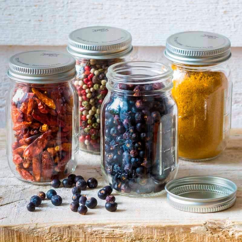 Frasco De Vidrio Con Tapa Mason Jar Mini 4oz. 4 Piezas