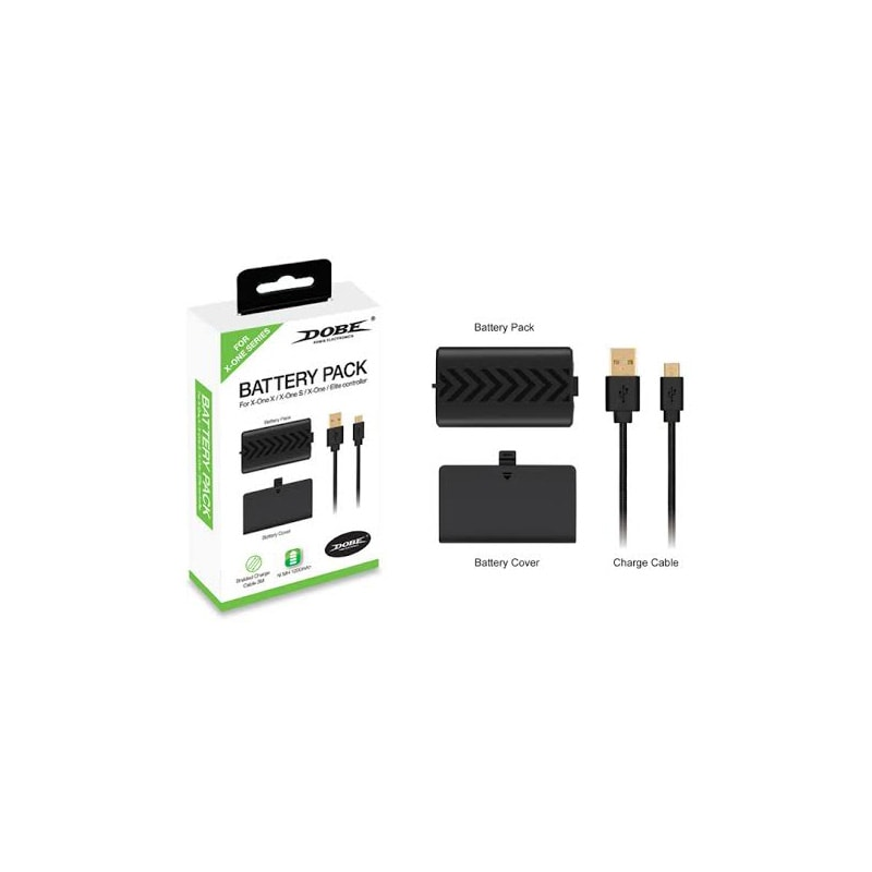 Xbox One S / X / Elite Kit Carga Y Juega 1200 mAh Compatible Con Xbox One