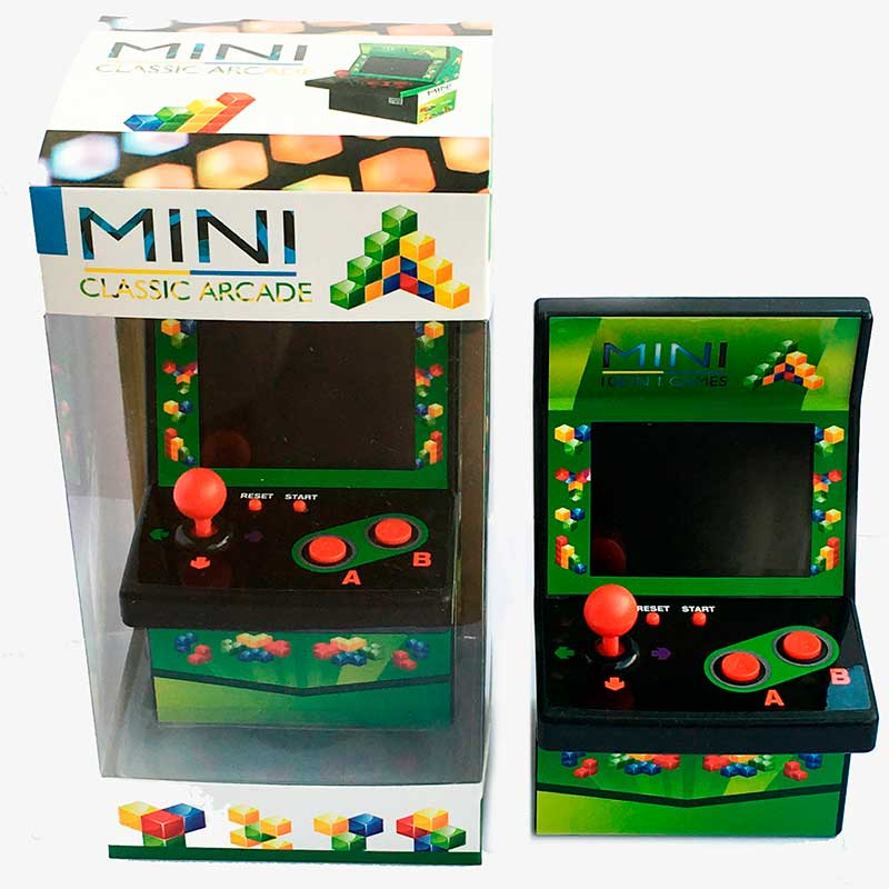 Mini Consola Portatil Classic Arcade Joystick Machine BUIL TIN 108