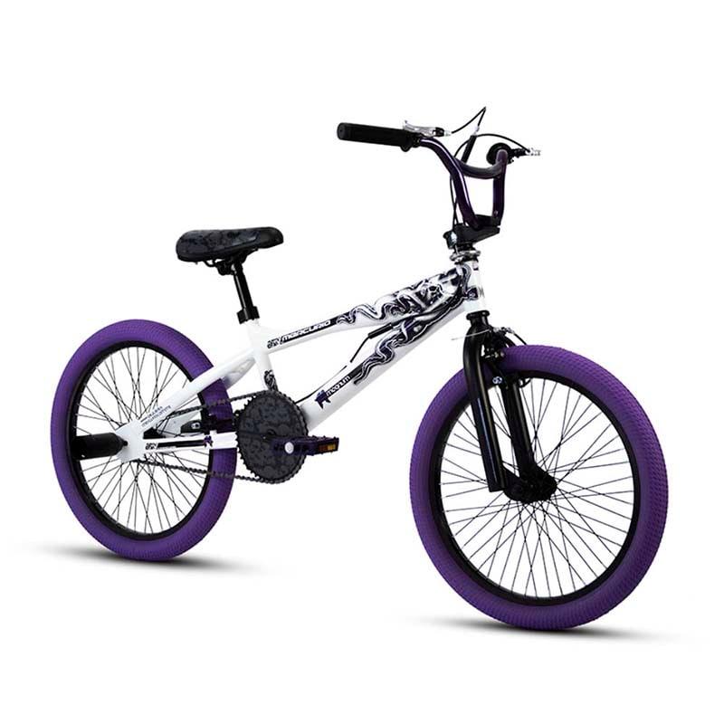 Bicicleta Rodada 20 Mercurio Magnum F4 BMX Freestyle Blanco 2020