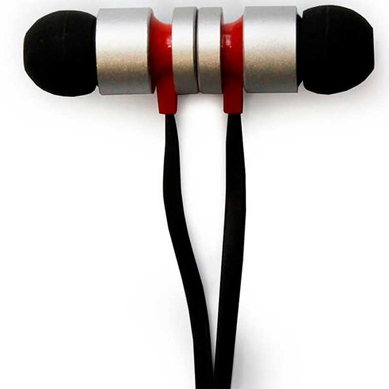 Audifonos GETTTECH MI1220 SOFT Alambrico 35mm Plata Rojo MI1220R