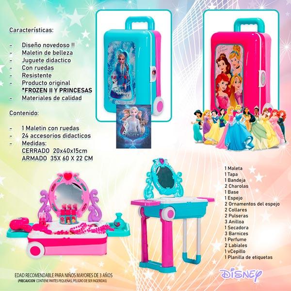 Disney Maletin con ruedas portatil Frozen Princesas Cocina belleza Juguete regalo navidad reyes