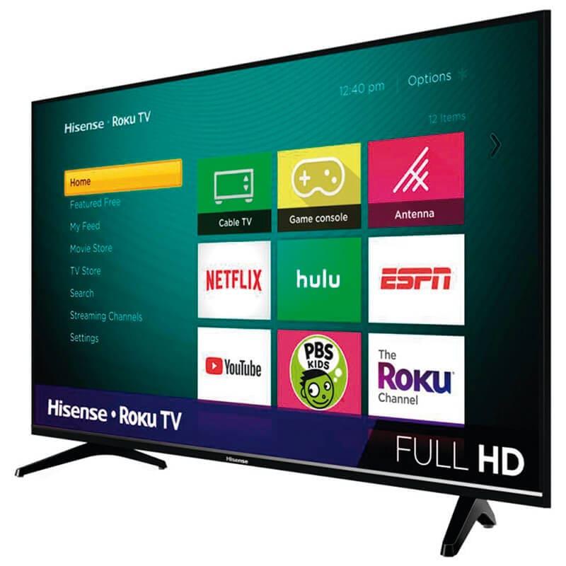 Pantalla Smart Tv Hisense 43 Pulgadas Led Con Roku y Netflix REACONDICIONADA